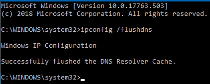 Flush DNS to fix DNS_PROBE_FINISHED_NXDOMAIN