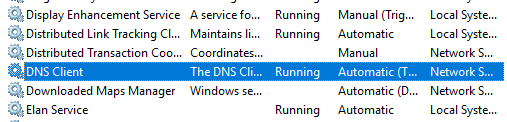 Restart DNS client to fix DNS_PROBE_FINISHED_NXDOMAIN