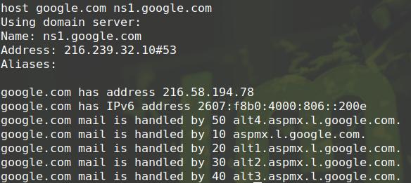particular name server